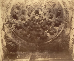 View of domed ceiling in the mandapa of the Ambaranatha Temple, Ambarnath
